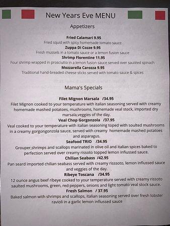 New Year's Eve menu 2020 :)