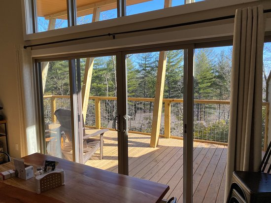 View onto the deck.