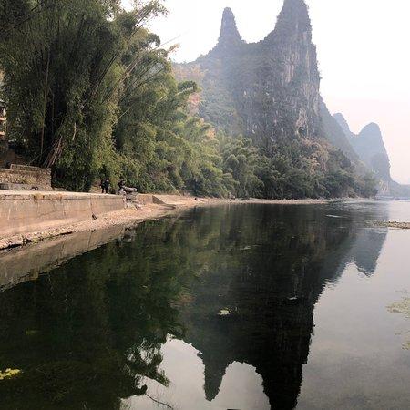 Beautiful river and mountain in Guilin Yangshuo!