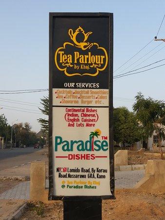 Main entrance of Tea Parlour by Khaj and Paradise Dishes.