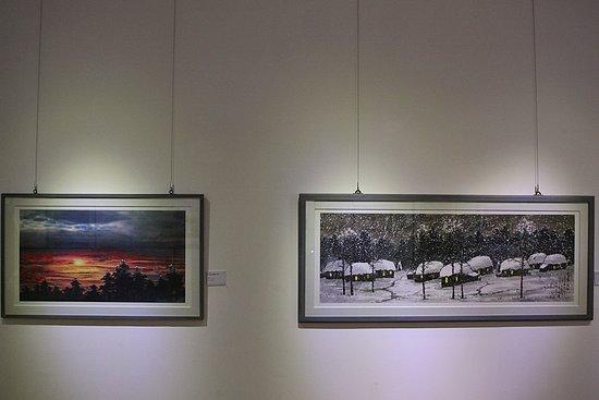 남도 전통 미술관 내부 전경
