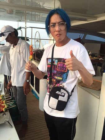 Makoto Lucifer loves our BBQ so much