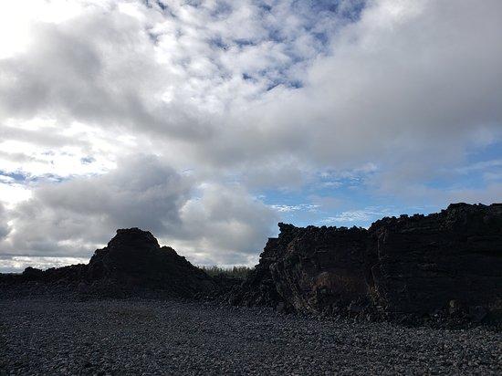 Big Island BIG Volcano Adventure from Kona: Small Group: The lava levee.