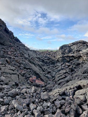 Big Island BIG Volcano Adventure from Kona: Small Group: Where the lava levee broke.