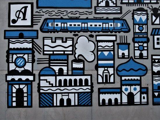 """Fresque """"Carte postale de la ville"""""""