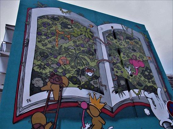 """Fresque """"A livre ouvert"""""""