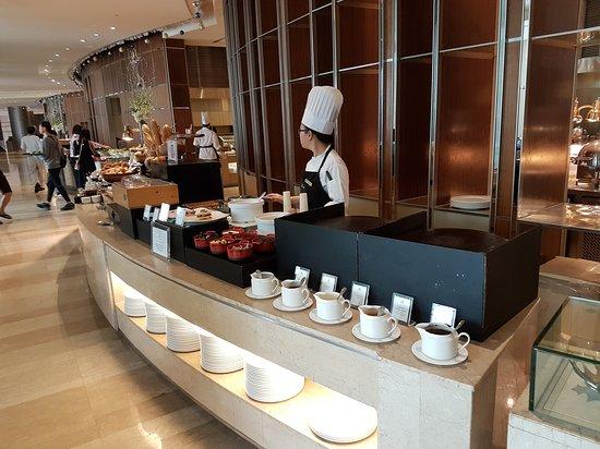 Le buffet de petit déjeuner