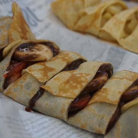 Homemade crepes from france