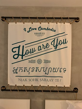 Room decor: one way of learning a Cambodian phrase