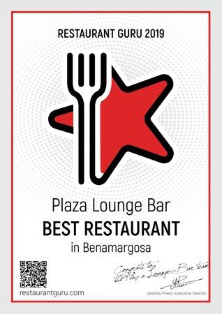 Benamargosa, España: Certificate of excellence