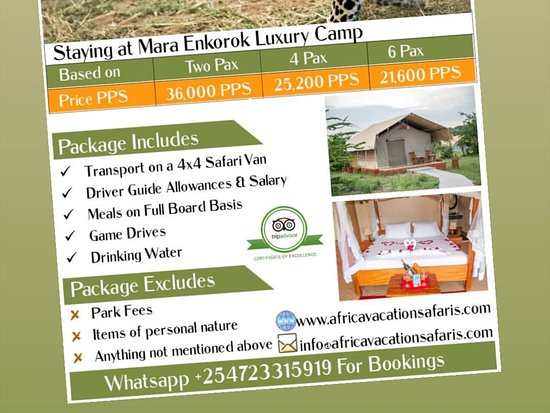 Национальный парк Амбосели, Кения: Masai Mara Deals  January prices  For more details reach us on +254723315919 or via info@africavacationsafaris.com
