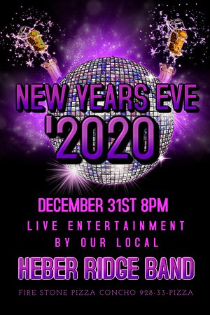 Bring in the New Year At Fire Stone Pizza Concho. Bands and info changes every year. This happens to be 2020. Events change all the time please check for updated information.