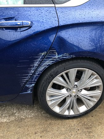 My car was damaged by a valet driver during an overnight stay at Meridian Philadelphia on November 8, 2019 for which the photo showa. It is going in two months and my car had still not been repaired. Do not valet park at this hotel. ☹️
