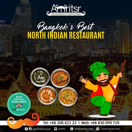 We have consistently been Bangkok's favourite #NorthIndianRestaurant to enjoy with #Family and #Friends alike!  Visit us today and make memories!!  Book Your Table - http://bit.ly/2XxOYDR  Call us for Door Delivery or Table Reservations @ +66830099719 | +6620662122  We are the ONLY Amritsari restaurant which delivers anywhere in Bangkok and we are OPEN till 4 AM.