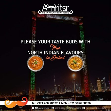 The authentic taste of #NorthIndianFood is quite difficult to get, but at #Amritsr we serve your favorite #Dishes in their authentic form.  Order Online - http://bit.ly/2CUOaB6  Call for Door Delivery or Table Reservations @ +971 4 3278622 | +971 50 6780096 OPEN 24 HOURS!