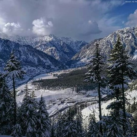 Kalam looks like this nowadays... A view of Kalam Town Swat Valley...❤