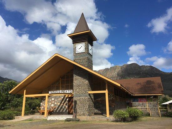 Ua Pou Îles Marquises, Polynésie française  Eglise Saint Etienne Hakahau