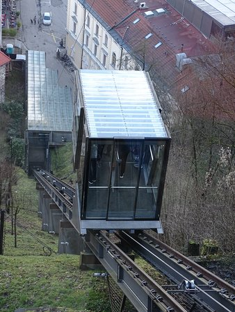 Funicular showing steepness