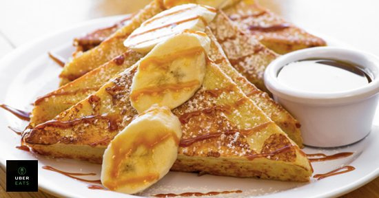 texas french toast with bananas