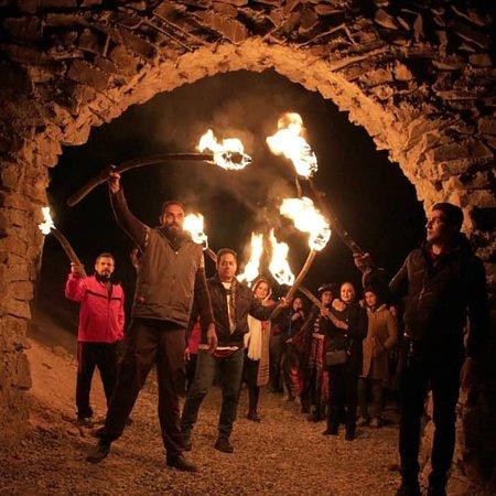 Garmsar, Iran: Fire and ski