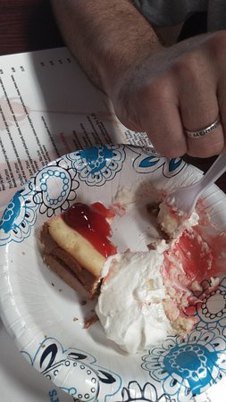 Thorsby, AL: Homemade cheery cheesecake with homemade whipped cream
