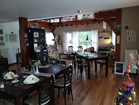 La sala da pranzo, dove trovate in esposizione gli hobby dei proprietari...
