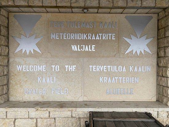Kaali, Estonia: signage