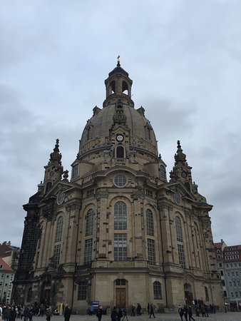 Dresden Walking Tour of the Historic Old Town with English Speaking Guide: church on main square