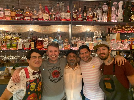 Me in the center with owners James and Alex and the fantastic crew!