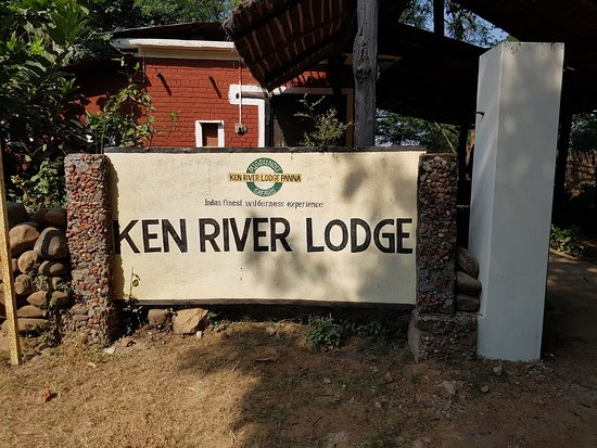 At the lodge entrance