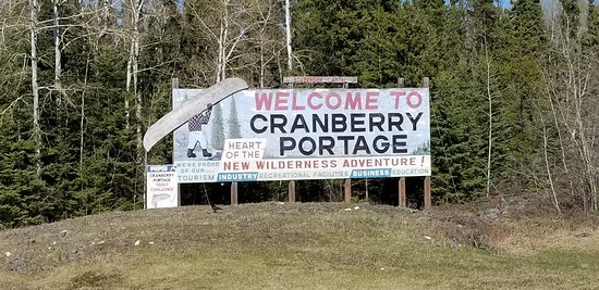 Cranberry Portage welcome sign