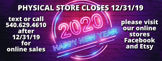 Christiansburg, VA: PHYSICAL STORE CLOSES 12/31/19