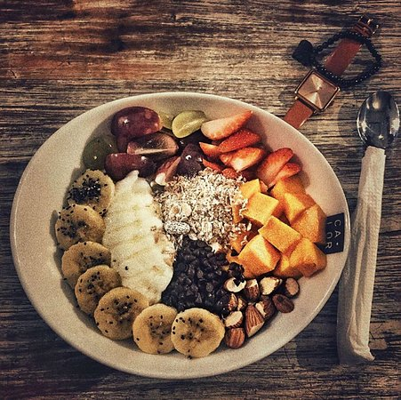 Colourful and breakfast bowls.