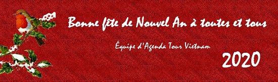 Joyeuse fête de nouvel an 2020 de l'équipe d'agenda Tour Vietnam