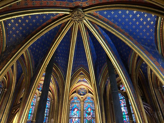Sainte-Chapelle: view of the ceiling of the lower chapel