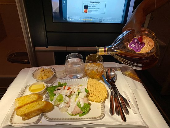 Singapore Airlines: Amazing choice of food and Drink