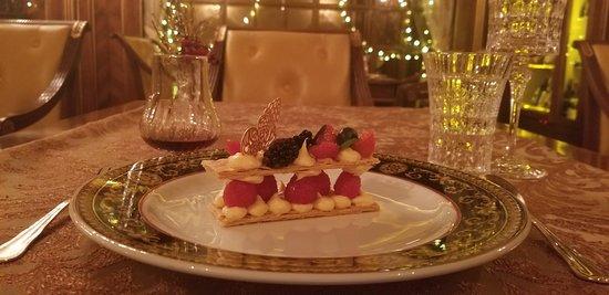 Dessert at the Hotel Restaurant