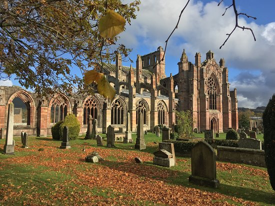 Melrose Abbey in October