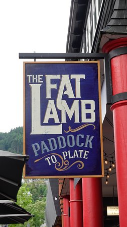 """The sign says it all, promoting its """"farm to table"""" or """"paddock to plate"""" sourcing."""