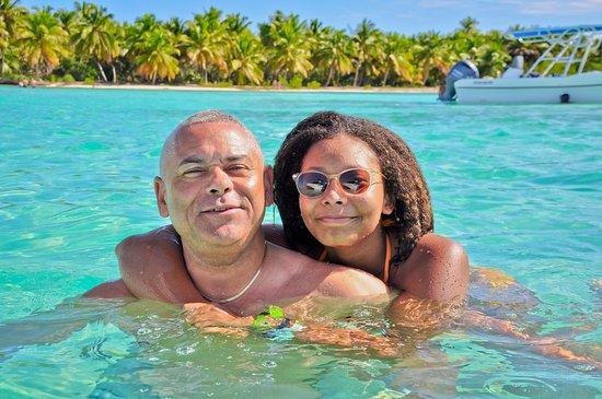 Saona Beach photographers work... Greg and Phyllis