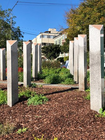 San Francisco LGBTQ Walking Tour with Local Guide: Triangle park (right in the middle of Castro)