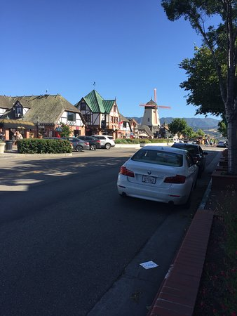 the main drag of Solvang, you'd think it was Copenhagen!