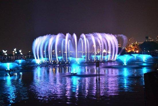 南昌秋水廣場音樂噴泉夜間表演與當地美食晚餐