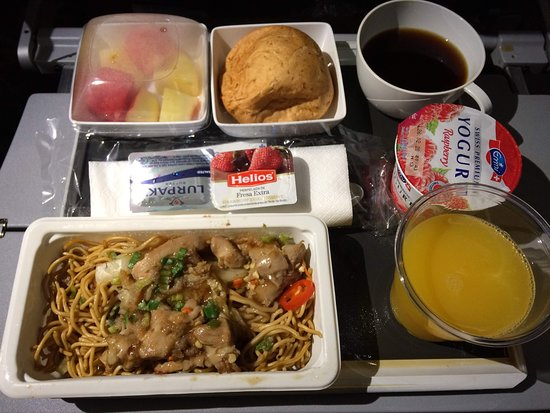 Singapore Airlines: 二回目の機内食だった気がします