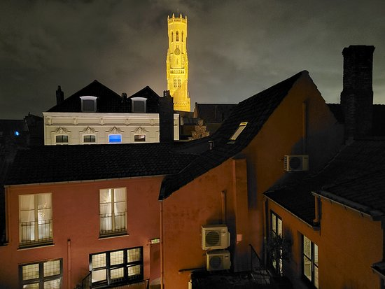 View from Belfry room at night