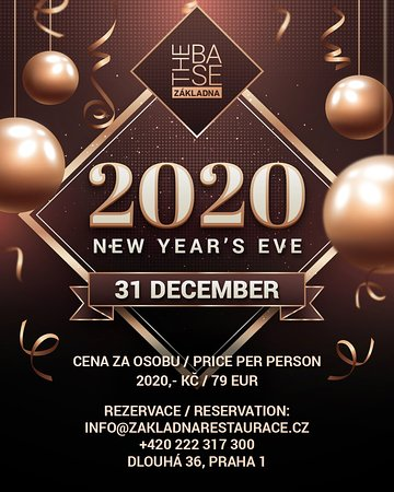 🎇2️⃣0️⃣2️⃣0️⃣🎉 A year has passed, and we are all a bit older, wiser and more experienced. If you, at least like us, are looking forward to the adventures and events of the New Year, feel free to celebrate New Year's Eve in Základna Restaurace! 🥗🥂 Welcome the magic year 2020 with us and enjoy the evening surrounded by your loved ones with quality food and the best drinks. Do not hesitate and book your table today.  Reservations can be made by phone at +420 222 317 300 or by email at info@zakl