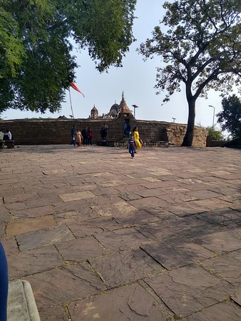 Chausat Yogini Temple: View before entering the temple complex