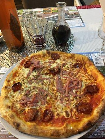 Pizza chorizo anchois