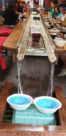 Takachiho-Schlucht und Mount Aso: Takachiho-Schlucht - Nudeljagd