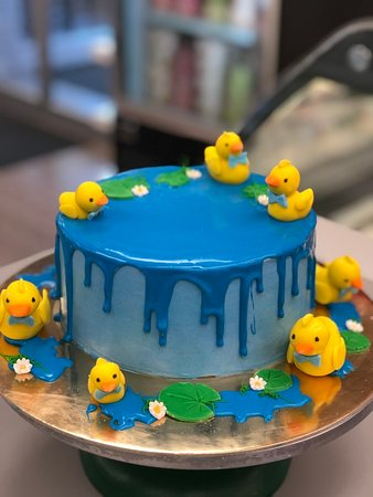 Incredible Duck Pond Custom Birthday Cake Picture Of Goodies Bake Shop Ltd Funny Birthday Cards Online Alyptdamsfinfo
